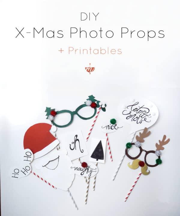 DIY Photo Props für mehr beknackte Weihnachtsbilder + Printables | Mohntage