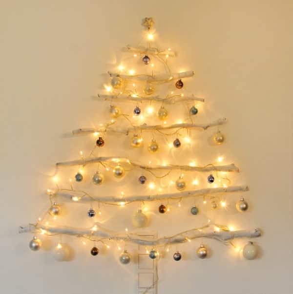 DIY - beleuchteter Weihnachtsbaum aus Ästen - HANDMADE Kultur