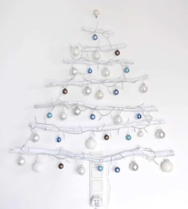 diy beleuchteter weihnachtsbaum aus sten handmade kultur. Black Bedroom Furniture Sets. Home Design Ideas