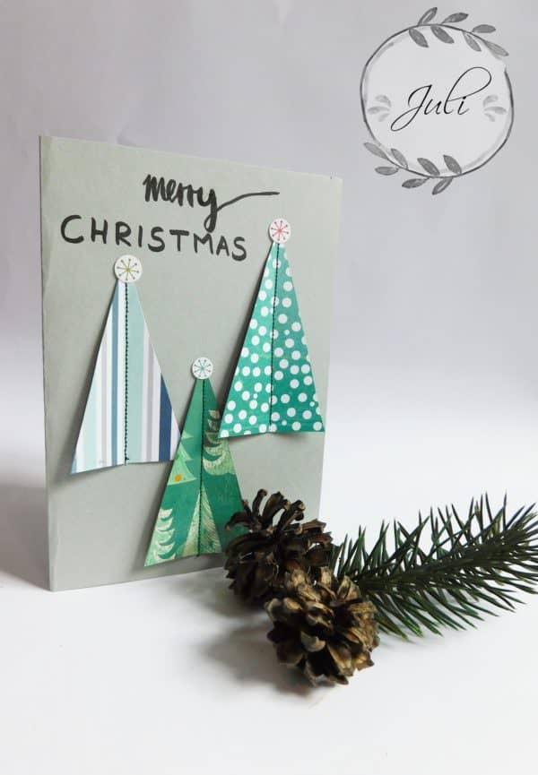 "Weihnachtskarte ""nähen"""
