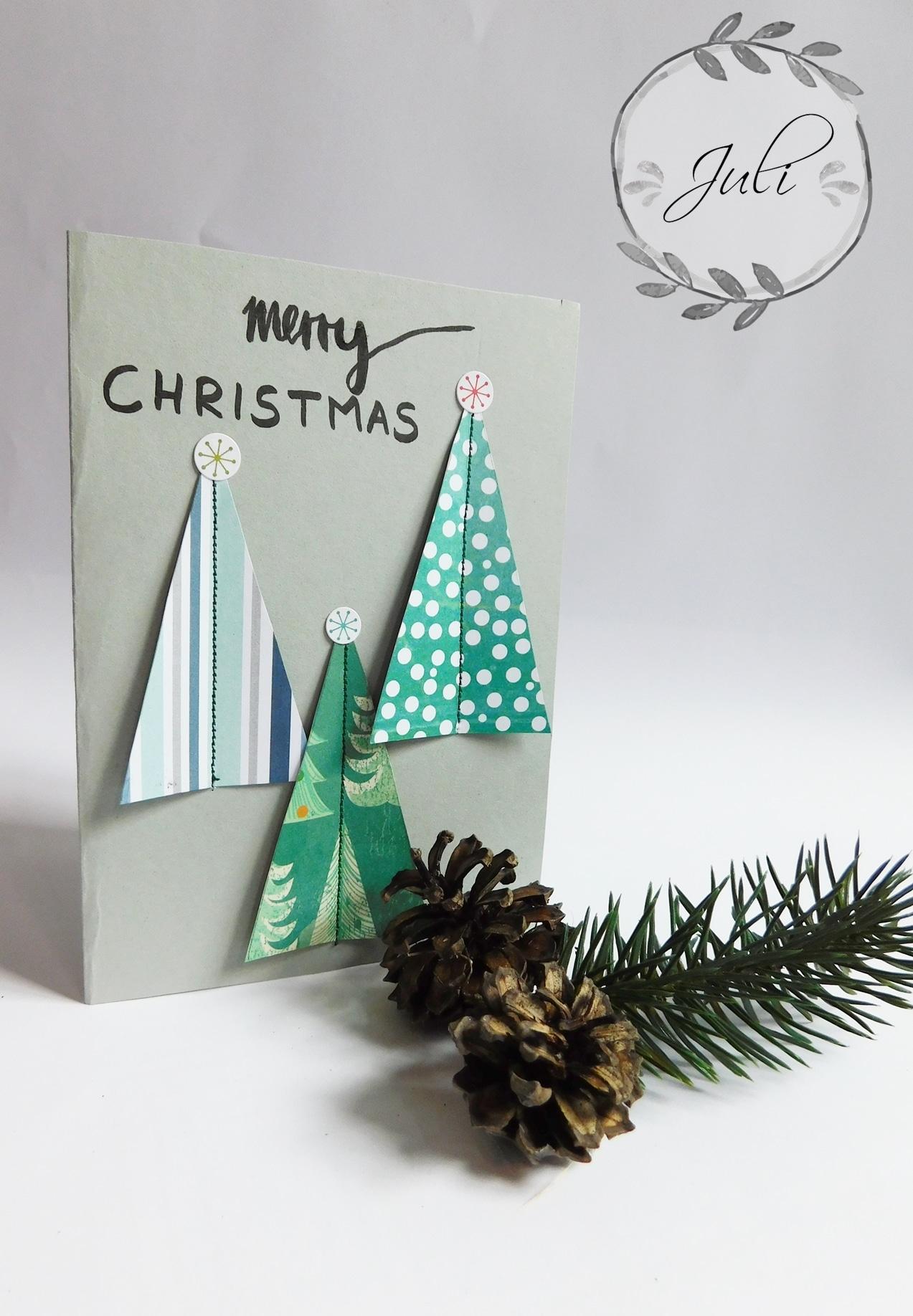 "Weihnachtskarte ""nähen"" - HANDMADE Kultur"