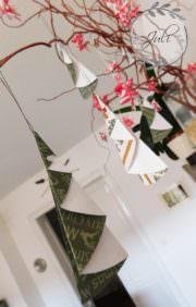 Schnelle Papier Weihnachtsbäume zum selber falten