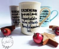 Tassen bemalen mit Keramikfarbe