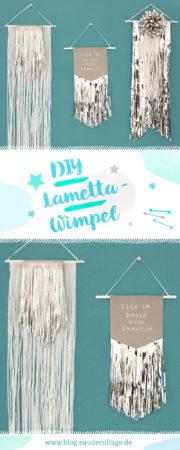 DIY LAMETTA-WIMPEL ALS WEIHNACHTSDEKO BASTELN