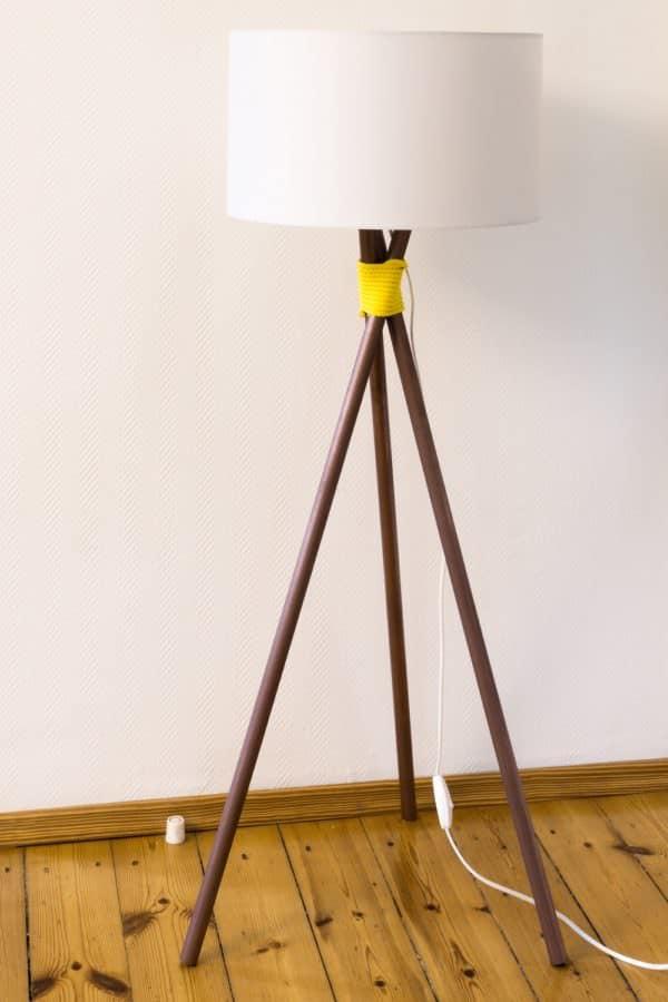 DIY Stehlampe im Kupfer-Look