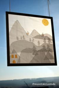 DIY Anleitung: Fensterbild Winter