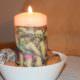 eine Kerze mit Serviettenmotiv verschönern