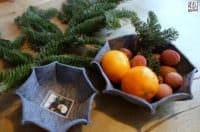 Filzkörbchen selbst nähen - Last-Minute-Geschenkidee