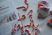 Zuckerstangen aus Fimo