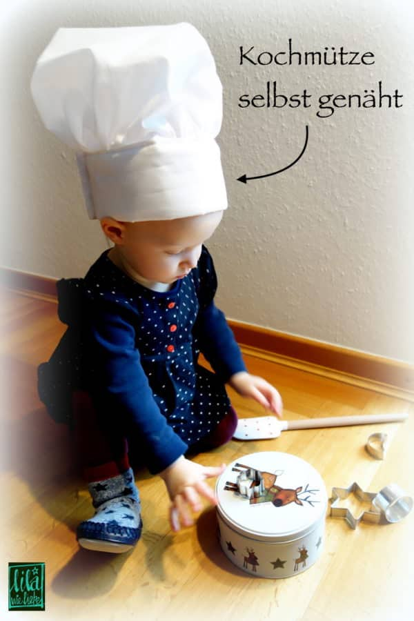 Weihnachtsbäckerei: Kochmütze / Chefkochhut für Kinder selbst nähen