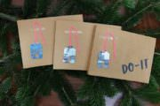 Marmorierte Weihnachts-Geschenkeanhänger