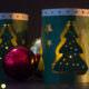 Windlicht mit Weihnachtsbaum / Plotterdatei