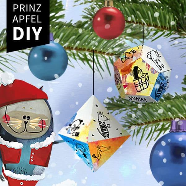 DIY Weihnachtskugel aus Papier
