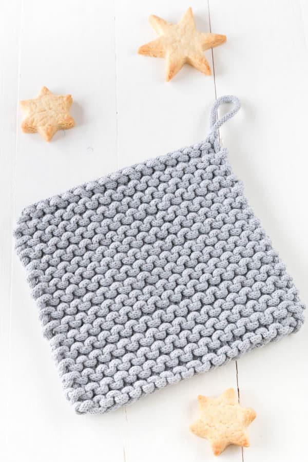 Einfache Topflappen stricken