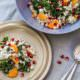 Salat im Winter: Grünkohlsalat mit Hirse, Möhren und Granatapfelkernen