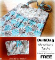 BullyBag – Freebook: eine faltbare Einkaufstasche nähen
