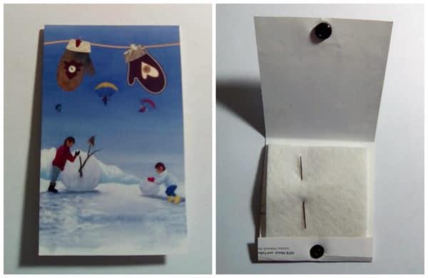 Nadelheftchen aus Postkarten