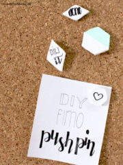 DIY Fimo Push Pin
