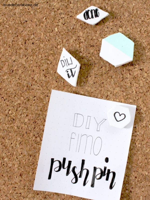 DIY Fimo Push Pin