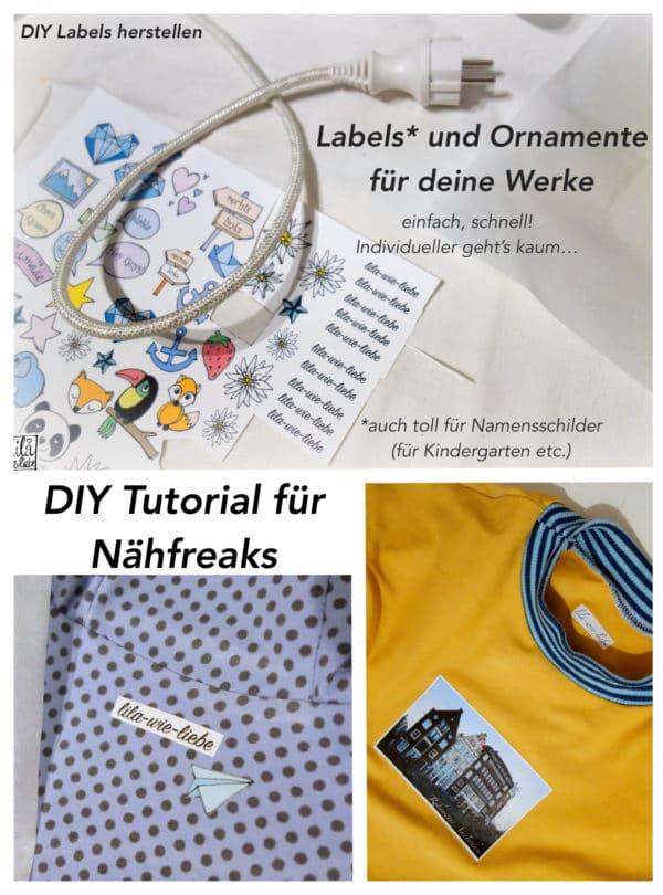 Labels selbst herstellen – für helle und dunkle Stoffe