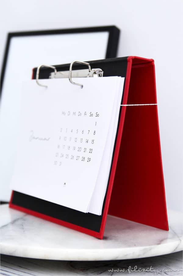 DIY Kalender-Brett & Tischkalender-Printable