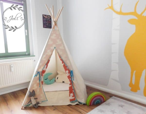 kuschelecke ein kinder tipi n hen handmade kultur. Black Bedroom Furniture Sets. Home Design Ideas