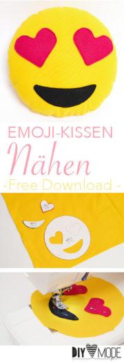 Emoji Kissen nähen / Kostenlose Vorlage