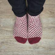 Candy Cane Socken