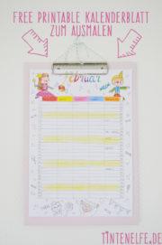 Kalenderblatt zum Ausmalen - Februar