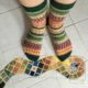 Toe up-Socken in bunt