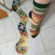 Toe up-Socken in bunt