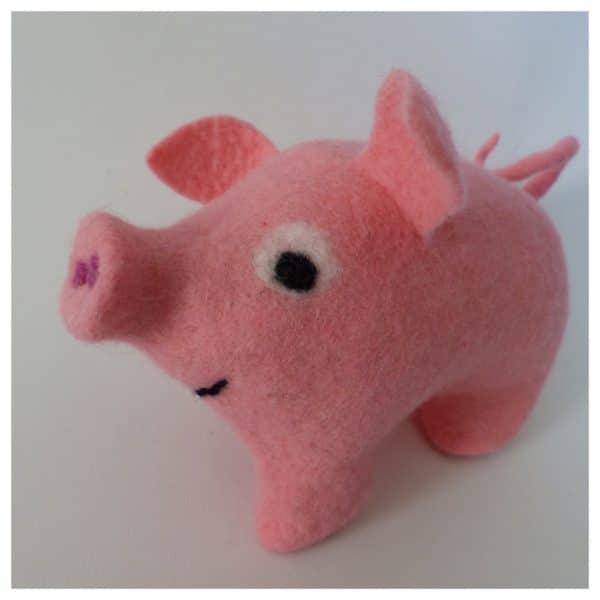 Schweinchen auf zwei Beinchen