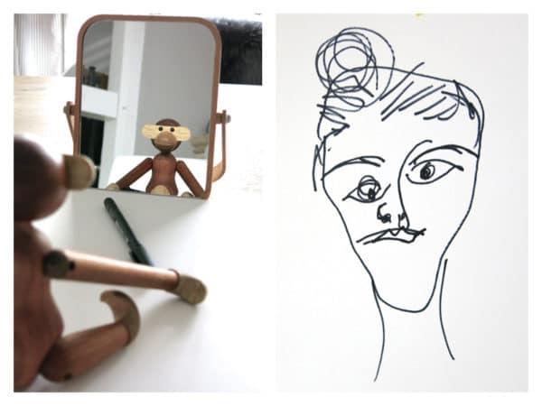 Spiegelportrait - malen wie Picasso