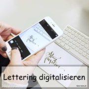 Lettering digitalisieren