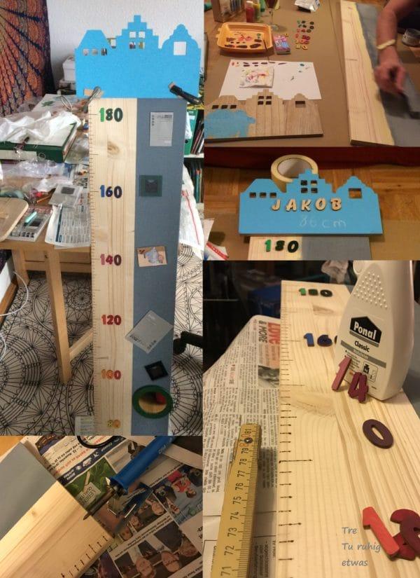 Kindermesslatte aus Holz selber machen (DIY Growth Chart)