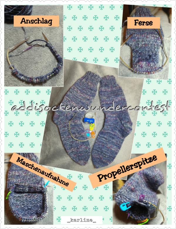Einfache Socken mit dem Addisockenwunder