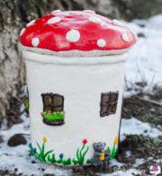 Pilzhaus aus einem Einmachglas