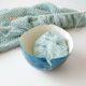 Garn- und Wollschale aus lufttrocknendem Fimo