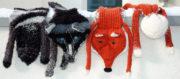 Fuchs und Wolf als Schal stricken