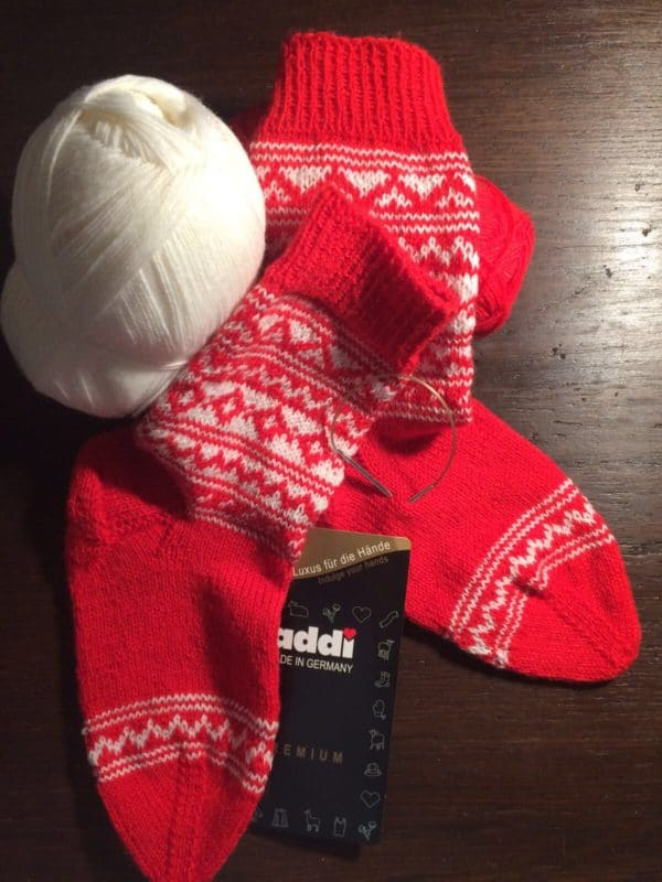Socken mit Norwegermuster #addisockenwundercontest
