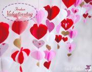 DIY - Valentinstagsgirlande mit Herzen