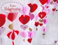 DIY   Valentinstagsgirlande Mit Herzen