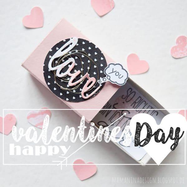 DIY kleine Schachtel mit großer Botschaft zum Valentinstag