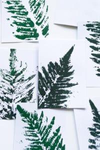 Florale Karten mit Farn Motiv