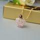 Wie kann man eine Halskette mit rosa Kristall Perlen selber machen