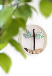 3D Wandbild mit Libelle