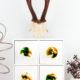 Möbelknöpfe aus Kunstharz mit Muffin-Backform