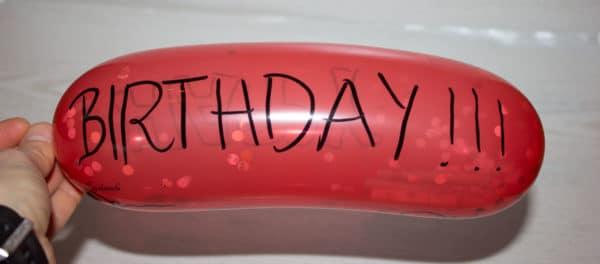 Last-Minute-Geschenkidee : Luftballon!