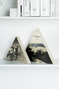 DIY Valentinstags-Geschenk: Dreieckiges Holzbild