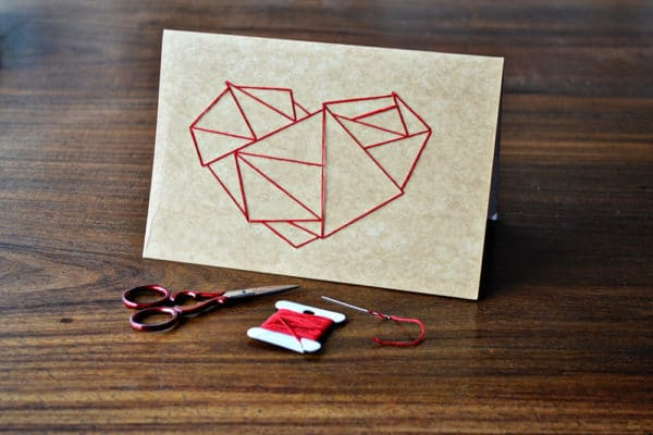 DIY Herzkarte Sticken